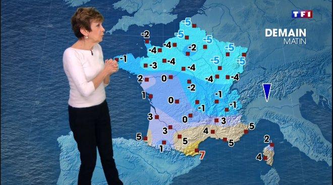 Carte météo TF1 non représentative pour la Normandie