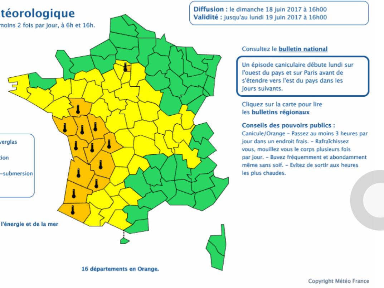Suivi De La Canicule De Juin 2017 Le Temps En France Les